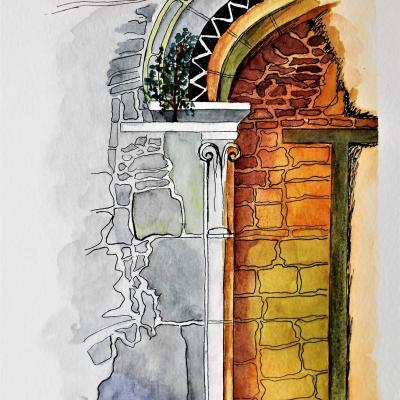 Porte de l'abbaye de Beauport
