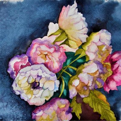 Fleurs foulard