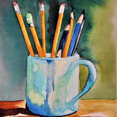 La tasse aux crayons